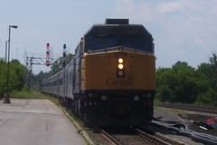 VIA Rail Train 60 Arrives in Belleville, Ontar...
