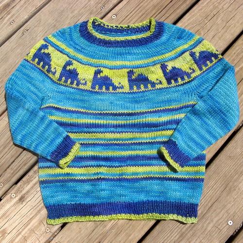 2444 dino sweater