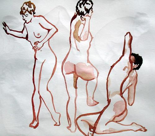 Three gesture sketches