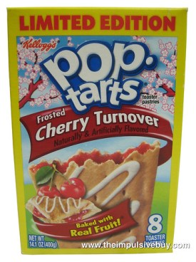 review limited edition frosted cherry turnover poptarts