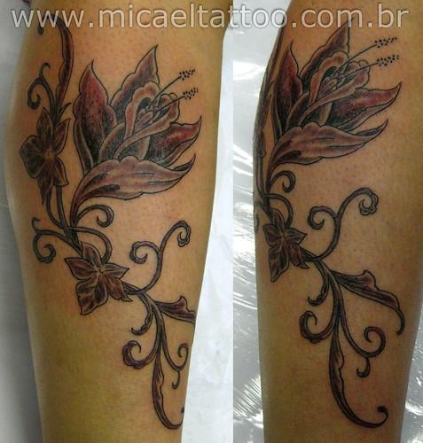 Tatuagem Flor Flower Tattoo by micaeltattoo