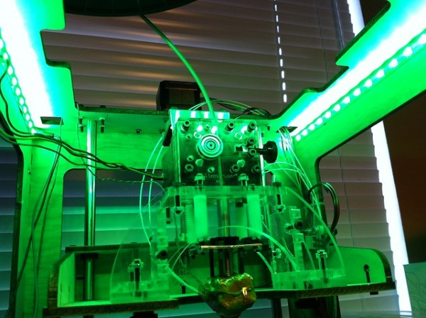 LED lighting installed in the MakerBot