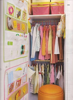 kid closet organization Real Simple