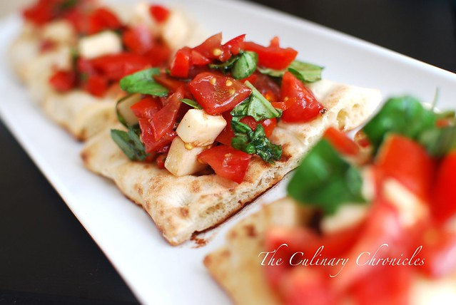 Bruschetta with Smoked Mozzarella Cheese