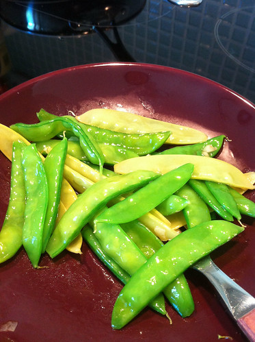 Snow peas from the garden