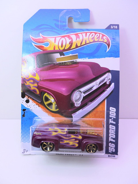 hot wheels '56 ford f-100 purple (1)