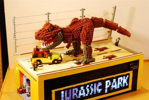 tyrannosaurus rex's  attack---left