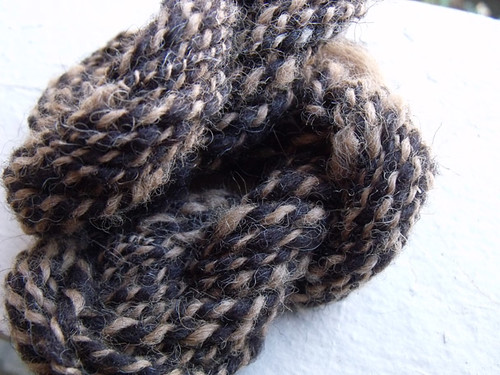 Brown Shetland and Fawn Alpaca Handspun