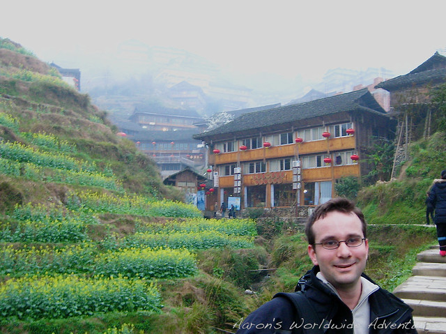Aaron Hiking to Ping'An
