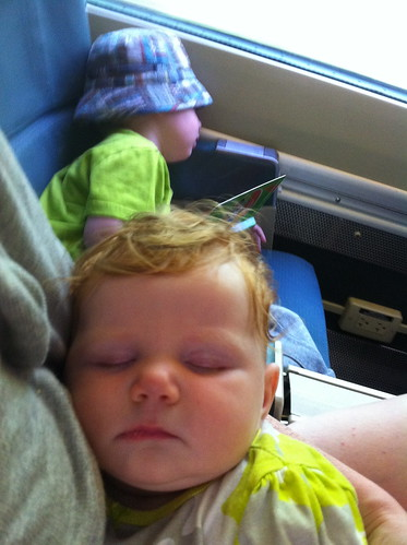 Sleeping on the train