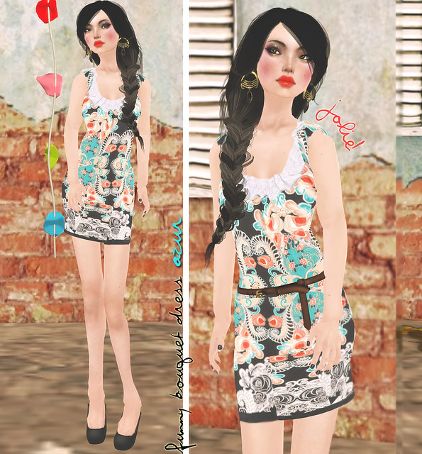 jOLIE! Funny Bouquet dress azur