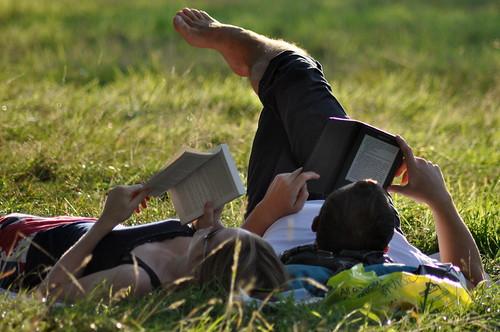 Paperback Book vs. Amazon Kindle