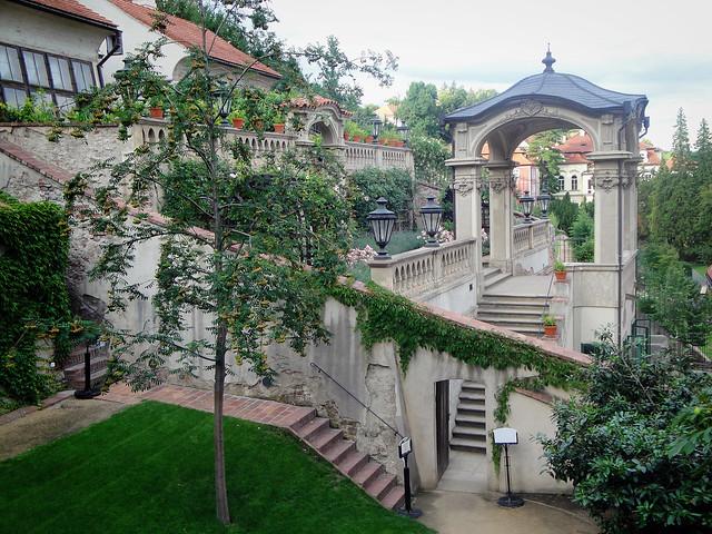 tiered gardens.