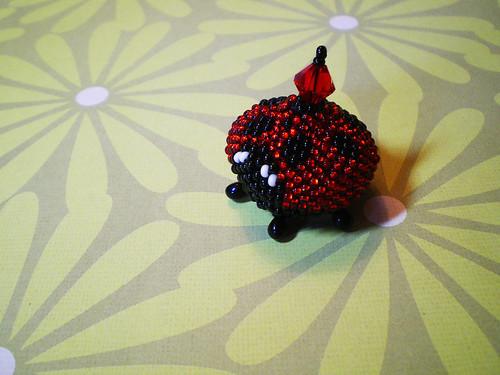 Ladybug Beaded Box