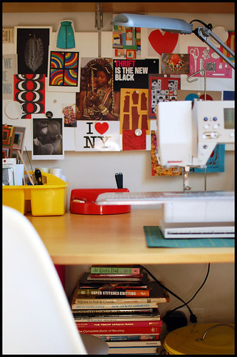 my desk in my studio