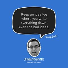 joshua startupquote idea log