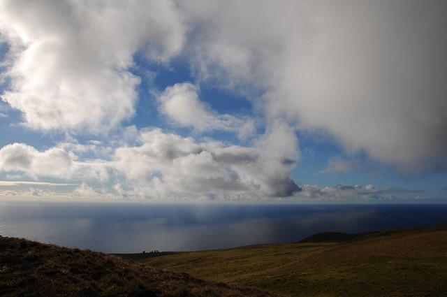 Nubes en el mar