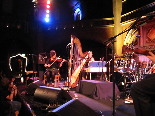 Revere onstage at the Union Chapel