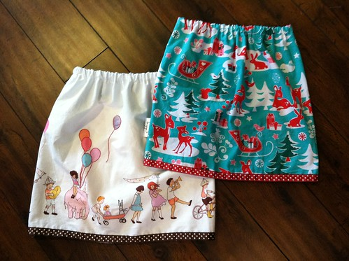 play skirts (w/embroidered accents)