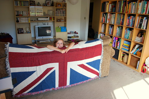 Happy Thing: Finding a Giant Union Jack for the Couch in the Closet