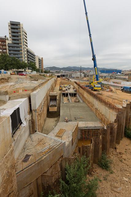 Riera d'Horta - Norte - Vista de la última fase del colector - 22-07-11
