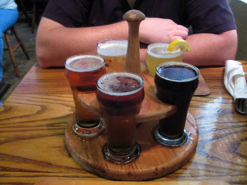 beer sampler at dockyard brewing company