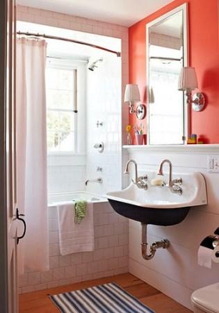 orange bath traditional home