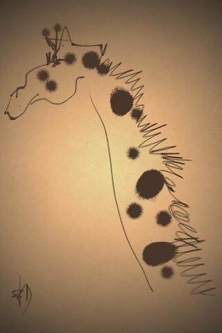 la girafe suspicieuse by Benedicte Delachanal