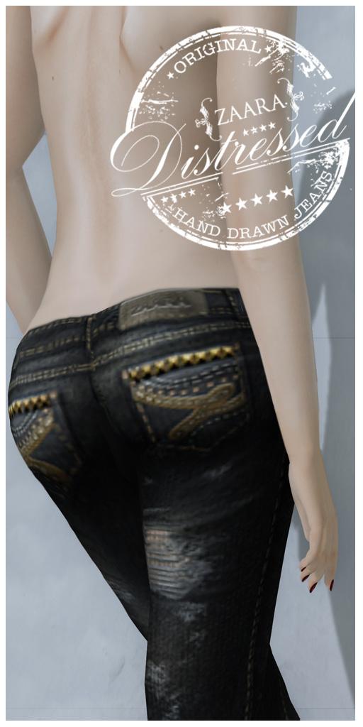 {Zaara} Denim : Distressed jeans