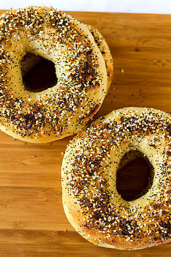 Topped with poppy seeds, sesame seeds, dried onion and garlic & salt