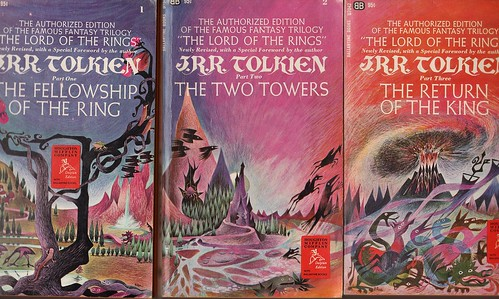 Lord of the Rings paperback covers