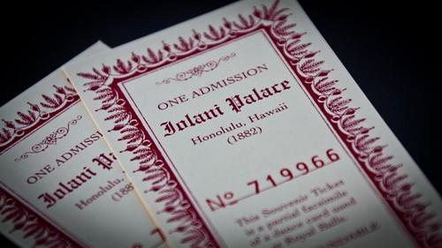 'Iolani Palace admission ticket