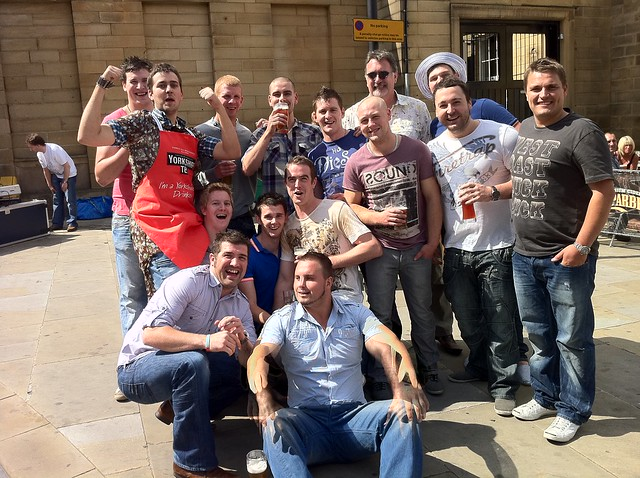 Stag Party Outside the Head of Steam, Huddersfield; 23rd July 2011