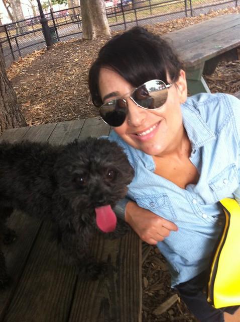 McGorlick Dog Run in Greenpoint Brooklyn with Portia