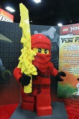 Ninjago Statue at the LEGO booth - San Diego Comic Con - 2