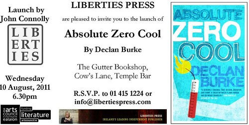 Declan Burke, Absolute Zero Cool - Invite