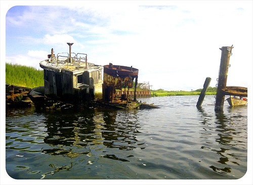 abandoned tugboat