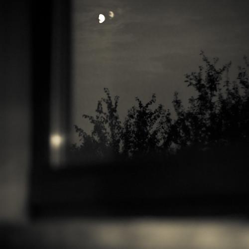 the moon outside