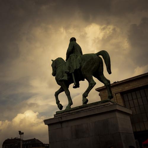 Statue équestre d'Albert Ier, Mont des Arts, Bruxelles - Photo : Gilderic