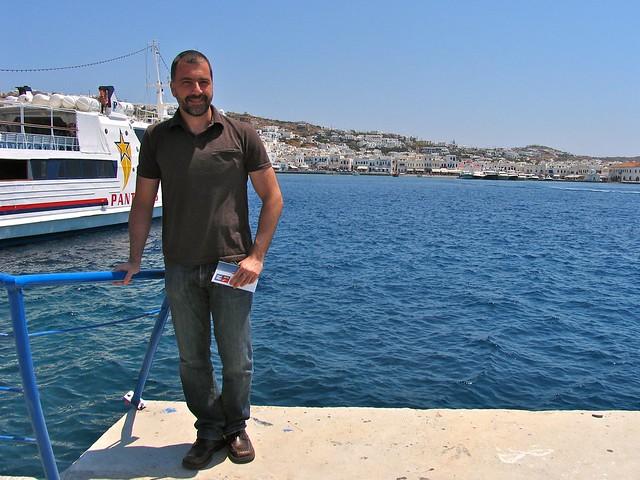 Port de Myconos, Grèce