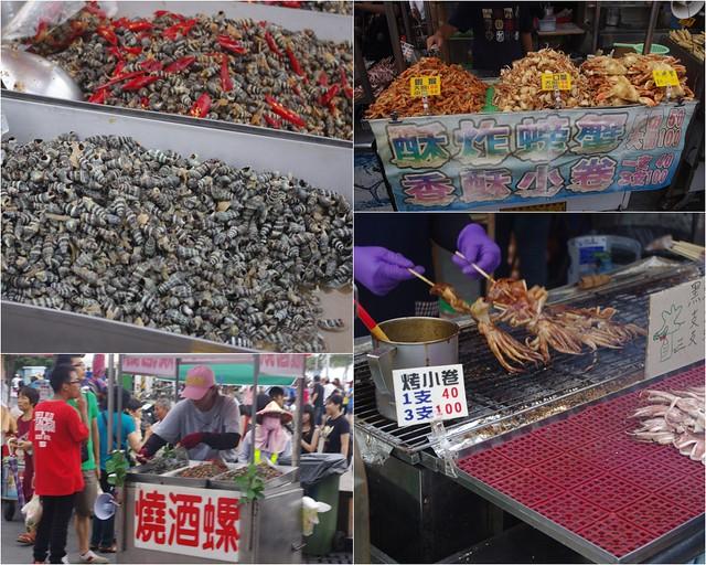 來旗津一定要常常好吃又青的海鮮!烤小卷真的好吃喔!