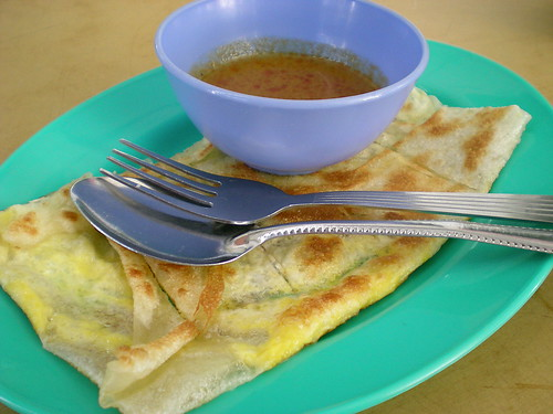 Choon Seng's roti canai with curry dip