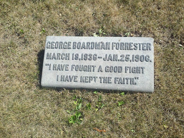"""I have fought the good fight. I have kept the faith."" Green-Wood Cemetery"