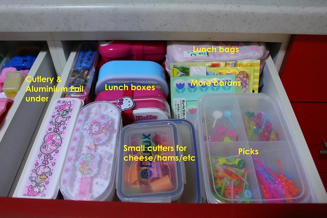 Drawer 2: Lunchboxes, Picks, Small Cutters, etc