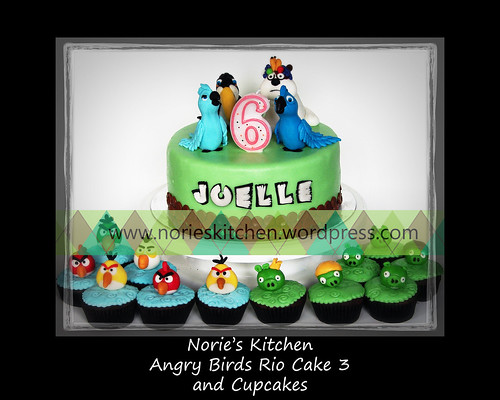 Norie's Kitchen - Angry Birds Rio Cake 3 by Norie's Kitchen