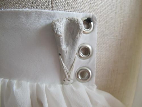 bone dress - deail back