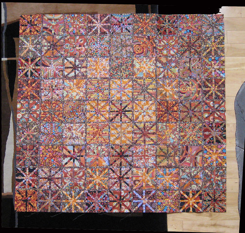 Asterisk quilt top without borders