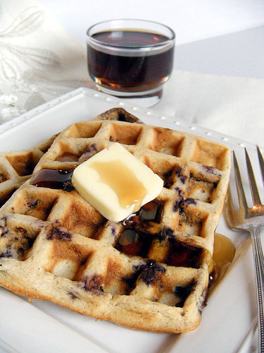 Whole Wheat Buttermilk Blueberry Waffles The Whimsical