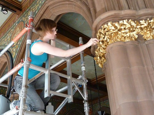 Cleaning the Gilded Capitals