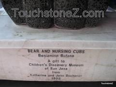 Mama Bear and Tandem Nursing Cubs Statue Caption